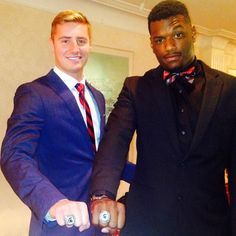 @c_cook18 and @calhoun89 flashing the hardware. #msufootball #spartans #Padgram