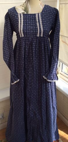 Rare Vintage 70s Laura Ashley Wales Early Museum Maxi Dress 12 in Clothes, Shoes & Accessories, Vintage Clothing & Accessories, Women's Vintage Clothing   eBay