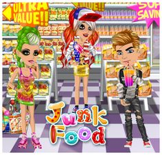 Junk Food weekly theme at #moviestarplanet #MSP