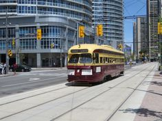 June 30, 2015: PCC Streetcar on Queens Quay, image submitted to the #UrbanToronto flickr pool by Sean Marshall #Toronto #urban #city #streetcar #transit #downtown #heritage #TTC #PCC