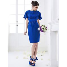 and I can pick the color!! Sheath/Column Jewel Knee-length Chiffon Bridesmaid Dress (710798) – USD $ 99.99