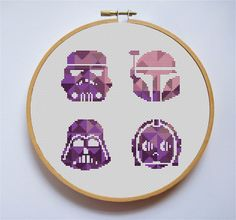 Excited to share the latest addition to my #etsy shop: Star wars cross stitch pattern set Stormtrooper Darth Vader Geometric Modern cross stitch Needlework C3-PO Purple Pdf Instant Download http://etsy.me/2mZg86D #supplies #purple #crossstitch #pink #starwarspattern