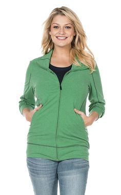 Typ , Shirtjacke, |Materialzusammensetzung , Grün: 62% Polyester, 33% Baumwolle, 5% Elasthan. Marine: 58% Baumwolle, 37% Polyester, 5% Elasthan, |Ärmelstil , lang, |Stil , Freizeitmode, |Passform , Figurbetont, |Anlass , Everyday, |Gesamtlänge , ca. 70 bis 78 cm, | ...