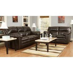 This is an awesome living room set. I may be poor but when I get my apartment I WILL look like I'm rich.