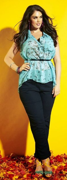 Plus size casual blouses - plussize-outfits.com
