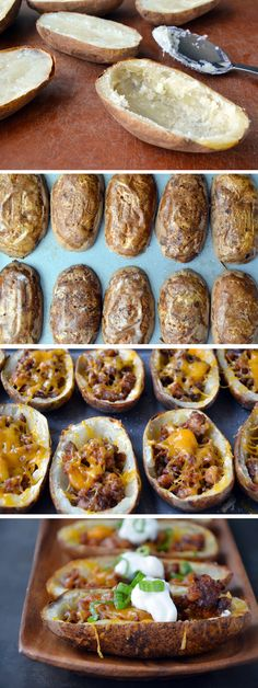 Chorizo and Cheddar Potato Skins from justataste.com #recipe