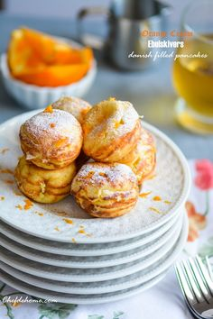 Orange-Cream Ebelskivers - Danish-style Filled Pancakes Recipe, plus a chance to win #cookbook #giveaway