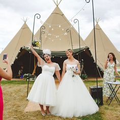 #TBT to the gorgeous Hayley & Lisa How can this already be 18 months on!! The joy on their faces after Jo from @myperfectceremony conducted their outdoor wedding in front of the Tipis  Image by the fabulous  @camerahannah