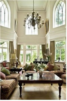 Traditional, bright and neutral living area.