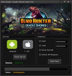 Dino Hunter Deadly Shores Hack Cheats Tool  Dino Hunter Deadly Shores Hack is Modhacks.com a new tool, that we all want to present to you. If you ever glimpse at all the other hacks on line, this amazing tool is the most effective. This specific tool was made to be functioning on Android os …
