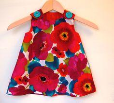 Poppy Punch Baby Toddler Girl Dress  3M by KKchildrendesigns, $35.00