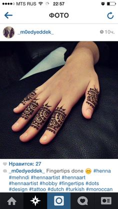 Henna art design on hands