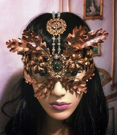 Coming soon www.raveneve.com Queen Of The Forest Elven mask headpiece.