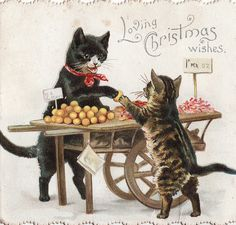Loving Christmas wishes!   Joyeux Noël !  Vintage