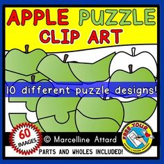 #PUZZLE #CLIP #ART: #APPLES #PUZZLES #CLIPART  PUZZLES INCLUDE BOTH COLOR AND BLACK AND WHITE IMAGES