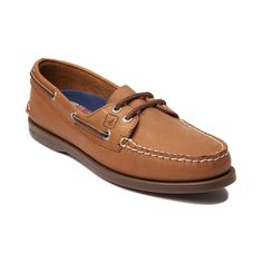 Shop for Womens Sperry Top-Sider Authentic Original Boat Shoe in Tan at Journeys Shoes. Shop today for the hottest brands in mens shoes and womens shoes at Journeys.com.The traditional boat shoe from Sperry featuring a non-staining, water-resistant leather upper, rust-proof eyelets, EVA cup in heel and non-marking rubber outsole for the best traction on wet surfaces.