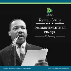 Martin Luther King Jr. Day is a federal holiday in the United States marking the birthday of Martin Luther King Jr. It is observed on the third Monday of January each year. King's birthday is January 15. The holiday is similar to holidays set under the Uniform Monday Holiday Act. #MLK #MartinLutherKing #RevKing #AdsRole #USholiday Local Seo Services, Companies In Usa, Top Digital Marketing Companies, Social Media Marketing, Federal Holiday, King Birthday, January 15, King Jr, Free Quotes