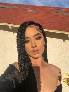 Long Black Braided Box Braids Wig Synthetic High Temperature Fiber Lace Front Wigs For Women 30 inch Lady& Wig - Box Braid Wig, Long Box Braids, Braids Wig, Black Box Braids, Black Girl Braids, Cornrows, Coloured Box Braids, Braids For Black Women Box, Cute Box Braids