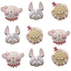 Cozy's Scrapbooking Friday Featured Item - Jolee's Boutique scrapbooking sticker Baby Girl Animal Faces Repeat item 50-21654. $1.45