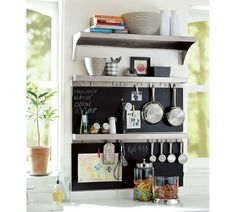 Quick and simple wall organization for the kitchen, pantry, laundry
