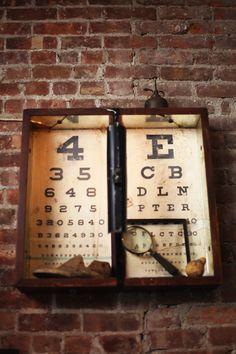 I see an interesting display using eye charts!
