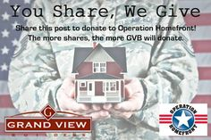 How cool is this?! Grand View Builders is definitely doing their part to help, if you go to their Facebook and share this photo before August 30, GVB will make a donation to Operation Homefront Texas! The more shares, the more they donate.
