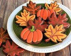 Fall Leaves and Pumpkin Cookies  tutorial- SugarEd Productions