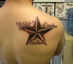 Star tattoo designs for men