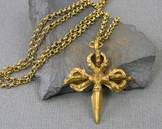 Mens tribal cross necklace https://www.etsy.com/listing/463943351/tribal-cross-necklace-gold-tribal?ref=shop_home_active_3 #mensjewelry #mensnecklace #jewelryforman #forhim #Tibetan #dorje #vajra #pendant