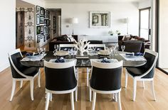 Black Dining Chairs And White Eclectic Room Janet Rice Interiors
