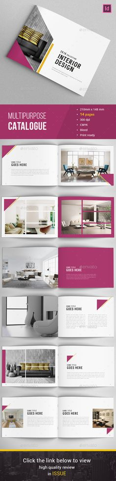 Landscape Company Portfolio Brochure A4 And Letter Landscaping - interior design brochure template