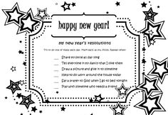 New year's resolutions for kids for each day of the week. Sunday School Kids, Sunday School Lessons, Sunday School Crafts, School Holidays, Bible Lessons For Kids, Bible For Kids, New Year's Crafts, Bible Crafts, Christian Kids