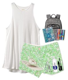 day 2: first day of school by nc-preppy-living on Polyvore featuring polyvore, mode, style, RVCA, Lilly Pulitzer, Jack Rogers, Vera Bradley, Alex and Ani, Kendra Scott, Lord & Berry, Paper Mate, fashion, clothing and klm17bdayandschoolcontest