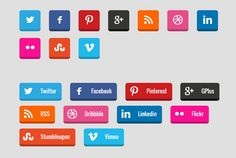 How to Create 3D Social Media Buttons with CSS3 #Buttons #WebDesign