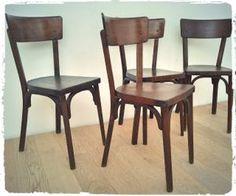 Suite de 4 Chaises Bistrot Vintage Baumann