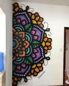 Wand gestalten Car Bras For New Fashion Anytime you hit the road, your vehicle faces rocks, debris, Simple Wall Paintings, Creative Wall Painting, Wall Painting Decor, Diy Painting, Mandala Mural, Mandala Artwork, Mandala Drawing, Mandala On Wall, Wall Art Designs
