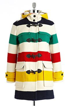 Hudson's Bay Company Womens Strathcona Classic Duffle Coat - ShopStyle Pendleton Coat, Hudson Bay Blanket, Blanket Coat, Duffle Coat, Mode Style, Preppy Style, Coats For Women, Just For You, Vestidos