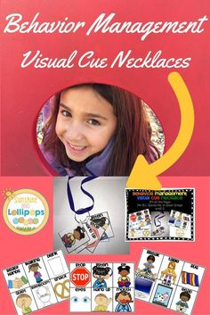 Classroom/Behavior Management visual cue necklace...it is all the rage...create your necklace today. It is perfect for ELL, Special Education and small group instruction! Make different ones for different outfits...OR NOT!