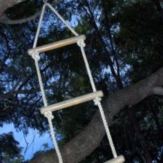 Make it more fun to climb in and out of bed with a retractable rope ladder.
