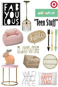 "Target's Pillowfort ...""Teen Stuff"" Cool stuff for the teen bedroom  via: Remixed interiors #teenbedroom #teendecor #pillowfort"