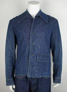 Vintage Indigo Denim Blazer