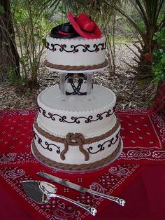 western wedding cake for tamica! Western Wedding Cakes, Western Cakes, Country Wedding Cakes, Themed Wedding Cakes, Wedding Cake Rustic, Beautiful Wedding Cakes, Themed Cakes, Beautiful Cakes, Amazing Cakes