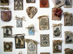 allaboutmary: A collection of scapulars.  Source (via kelley123)