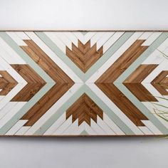 Perfect focal point for your wall or for a space that needs something special and unique to enliven it.Each piece is made exclusively with locally sourced Black Walnut, White Oak, and Douglas Fir. Comes in a variety of sizes Individually made to order Learn the process behind the art. Due to the custom handmade nature, lead time is 3-4 weeks. This item has a 7-day return policy.