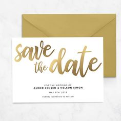 Gold Save The Date Printable Template Editable Download