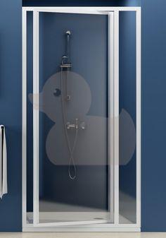 Sprchové dvere Supernova jednokrídlové 90 cm, sklo číre, biely profil