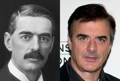 Famous Lookalikes: Neville Chamberlain - Chris Noth (Images of Neville Chamberlain and Chris Noth provided by Getty Images)