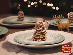 On the fourth day of holiday, make four edible table settings!  To make these at home simply layer any squared cereal using chocolate spread with a dash of Kahlua mixed in!