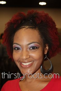 Front Braided Natural Auburn Afro