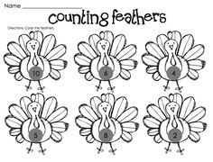 thanksgiving art projects for preschoolers | Kindergarten Fever: Thanksgiving Printables